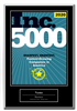 2020 Inc. 5000 Companies Deluxe Plaque