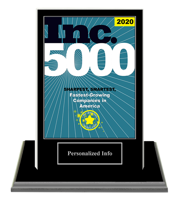 2020 Inc. 5000 Companies Deluxe Base Plaque