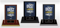 2019 NJ's Best Lawyers for Families Plaque w/Base