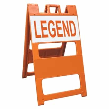 "Plasticade Barricade Type II Orange - 12"" x 24"" Top Panel Custom Engineer Grade Sign Legends"