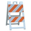 "Plasticade Barricade Type II White - 12"" X 24"" Top Panel, 8"" X 24"" Bottom Panel