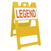 "Plasticade Barricade Type II Yellow - 12"" x 24"" Top Panel Custom Engineer Grade Sign Legends"