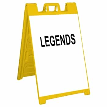 "Signicade Sign Stand Yellow - 24"" x 36"" Diamond Grade Sign Legends"