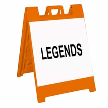 "Squarecade 36 Sign Stand Orange - 24"" x 24"" High Intensity Prismatic Grade Sign Legends"