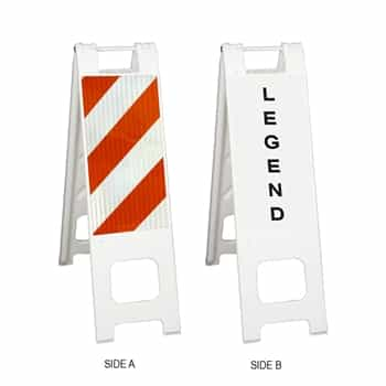 "Narrowcade White - 12"""" x 24 Engineer Grade Striped Sheeting (side A)