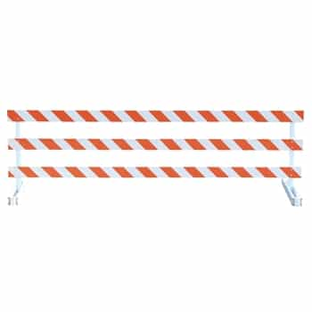 Break-Away Type III - 10' Break-Away  Kit with Engineer Grade Striped Sheeting (Both Sides)