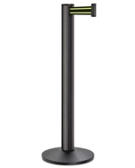 "Beltrac 3000 Retractable 13' ft. Belt Stanchion, 14"" Sloped Base"