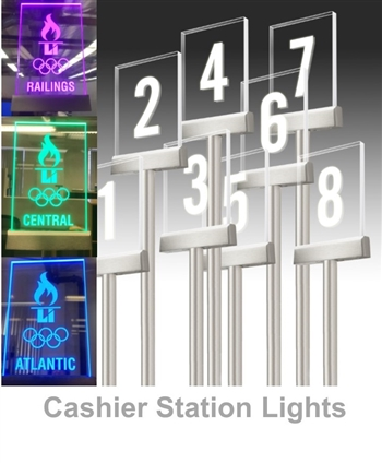 Cashier Checkout Station Lights & Numbers