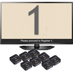 "Eight 1 Button Remotes, 32"" LCD Screen with Beige & Gray Display"