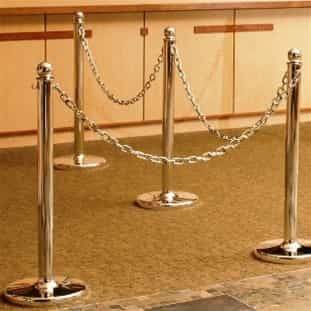 Metal Plated Plastic Stanchions