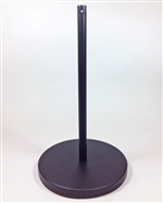 "Museum & Art Gallery Stanchion, 16"" Tall, Black Powder Coat ""Q-Cord"""