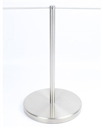 "Museum & Art Gallery Stanchion, 16"" Tall, Stainless Steel ""Q-Cord"""