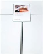 Museum & Art Gallery Stanchion Signage, 45 degree angle