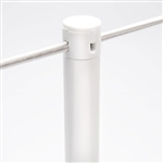"Museum & Art Gallery Stanchion, 16"" Tall, White Powder Coat ""Q-Cord"""