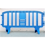 "Movit 78"" Portable Plastic Crowd Control Barriers Blue"