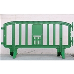 "Movit 78"" Portable Plastic Crowd Control Barriers Green"