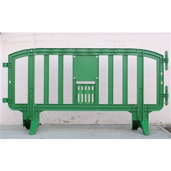 Movit 78 Quot Portable Plastic Crowd Control Barriers Green