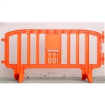 "Movit 78"" Portable Plastic Crowd Control Barriers Orange"