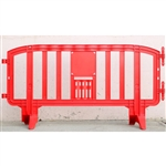 "Movit 78"" Portable Plastic Crowd Control Barriers Red"