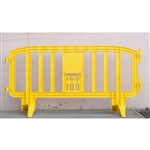 "Movit 78"" Portable Plastic Crowd Control Barriers Yellow"