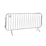Galvanized Steel 7.5' ft. Pedestrian Barricade, Lightweight 24 Lbs