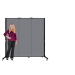 "Light Duty Room Divider - 6' 5""H x 5' 9""L - 3 Panel"