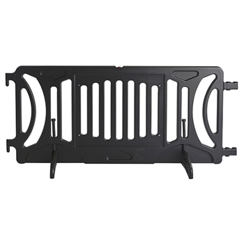 Black Plastic Fillable Crowd Control Barricade OTW