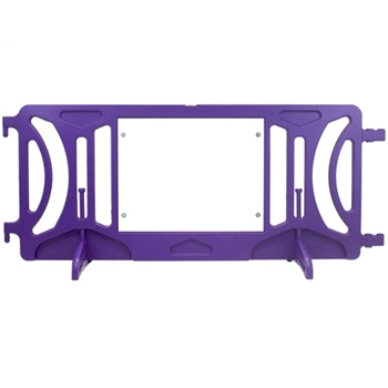 Purple Plastic Fillable Crowd Control Barricade OTW