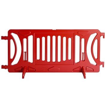 Red Plastic Fillable Crowd Control Barricade OTW