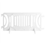 White Plastic Fillable Crowd Control Barricade OTW