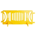 Yellow Plastic Fillable Crowd Control Barricade OTW