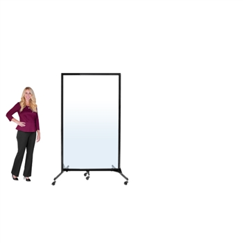 "Clear / See-through Room Divider - 1 Panel - 6' 2""H x 3' 4""L"