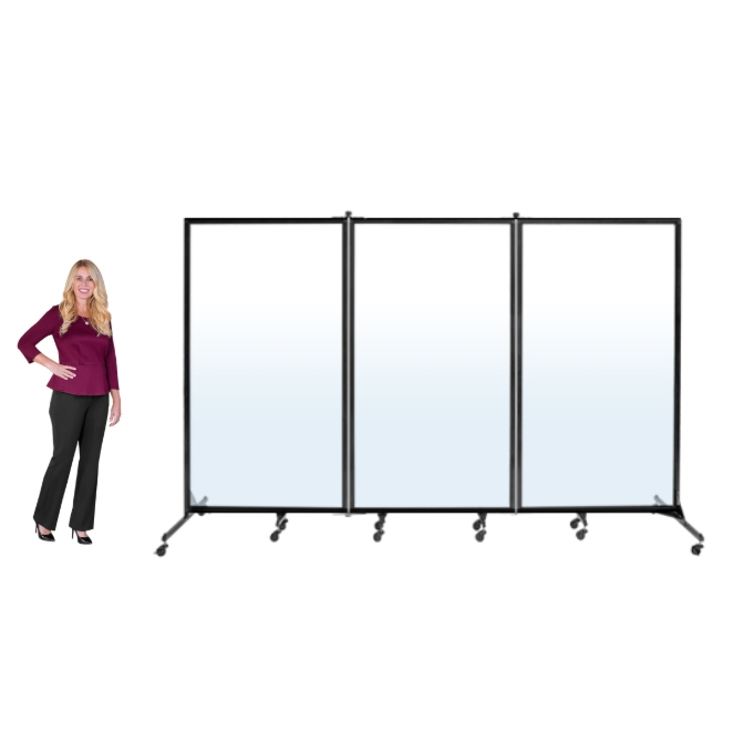 Clear See Through Room Divider 3 Panel 6 2 H X 10 0 L