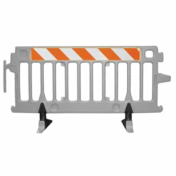 Avalon Crowd Control Plastic Barricade - Add high intensity prismatic grade striped sheeting on two sides