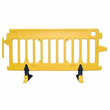 Avalon Crowd Control Plastic Barricade Yellow No Sheeting