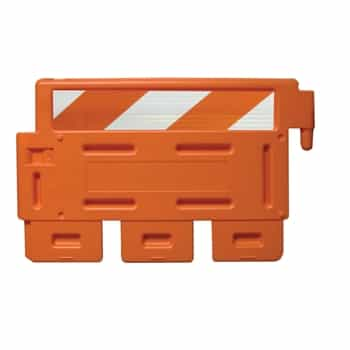 Strongwall - LCD Orange with engineer grade striped sheeting on one side - Top Only, order base separately