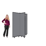 "Art Display Room Partition Tower  - 5' 9"" High, 3 Wings"