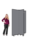 "Art Display Room Partition Tower  - 6' 5"" High, 3 Wings"