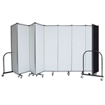 "Dry Erase / Tackable 6' x 16'9"" Portable Room Divider"