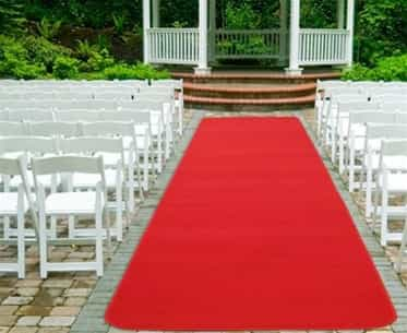 3x25ft Red Carpet Aisle Runner Outdoor and Indoor Hollywood Aisle Celebrity