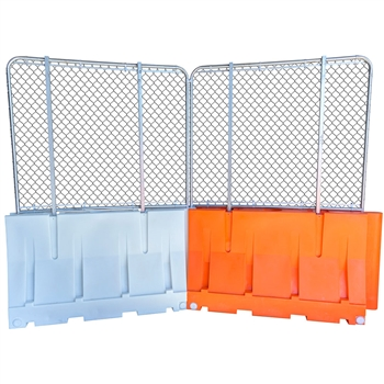 "Water-filled Barricade Fence Panels 72""L"