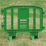 "Minit 49"" Portable Plastic Crowd Control Barriers Green"
