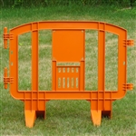 "Minit 49"" Portable Plastic Crowd Control Barriers Orange"