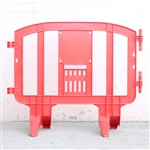"Minit 49"" Portable Plastic Crowd Control Barriers Red"