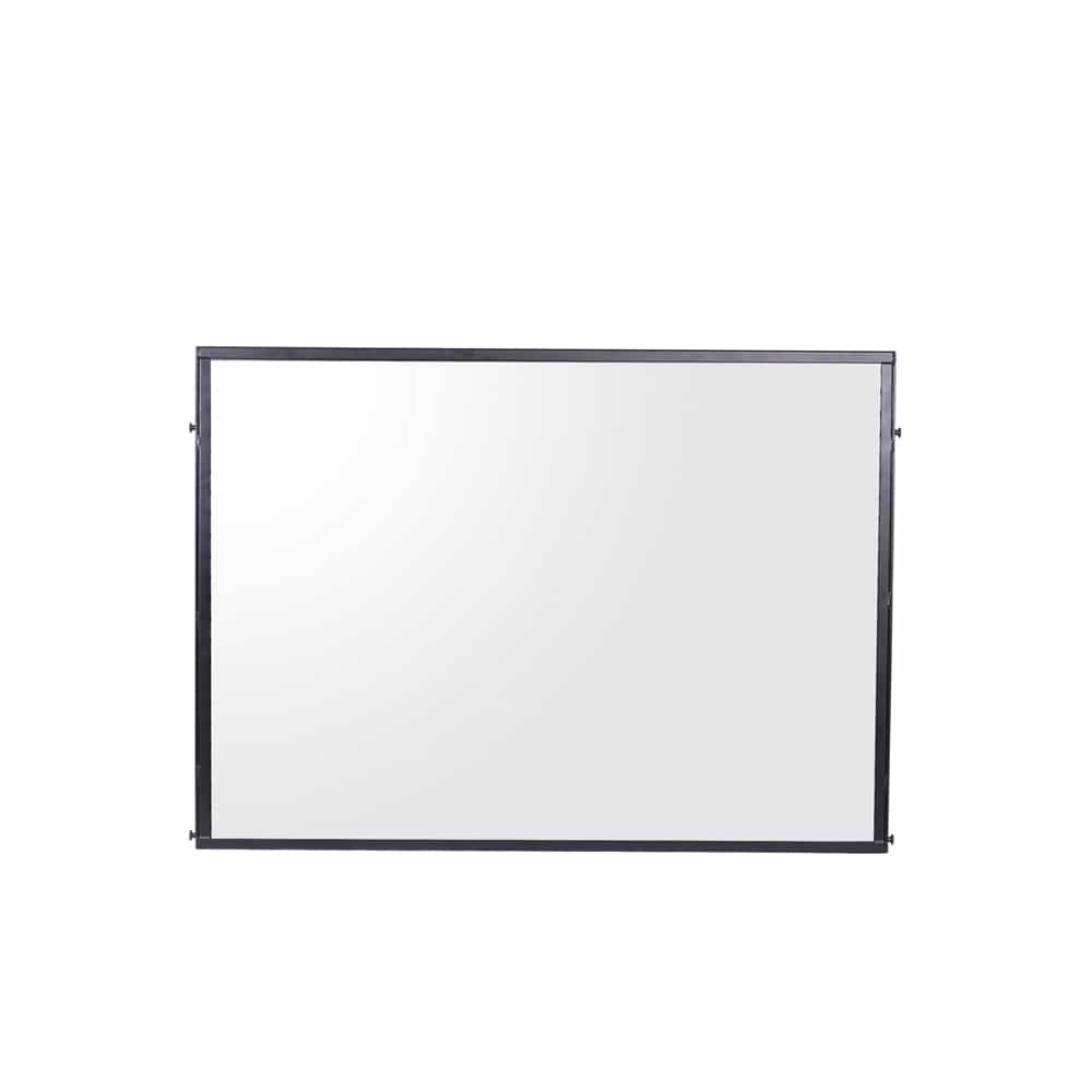 - Standard Height Panel, Black, Frosted Acrylic By Queue