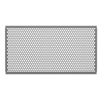 5 Feet Sidewalk Partition Panel with 1 inch Diameter Round Hole Pattern