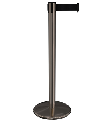 Premium BLACK CHROME 11' ft. Belt Stanchion - PR25BCCV