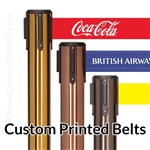 Premium - Rare Finish Belt Barrier with 11' ft CUSTOM Printed Belt - SPECIAL