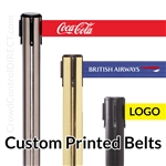 (SPECIAL) Premium Belt Barrier with 11' ft CUSTOM Printed Belt