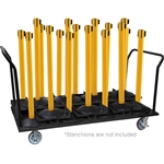 18 Stanchion Cart with Dual Handle (Vertical)